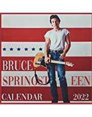 bruce springsteen calendar 2022: monthly calendar with notes section.antique collectible gift for dad mom men women