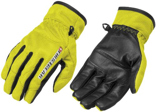 (FirstGear Ultra Mesh Men's Vented Textile/Leather Street Bike Motorcycle Gloves - DayGlo / Large)