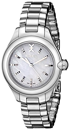 Ebel Women's 1216173 Onde Stainless Steel Watch with Diamond-Accented Crown ()