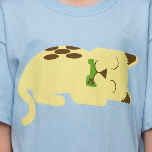 Minecraft Safe and Sound Kitty Youth T-shirt M