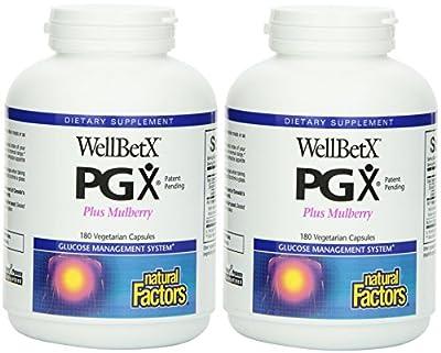 Natural Factors Wellbetx PGX Plus Mulberry Veg. Capsules, 180-count (180 X 2)