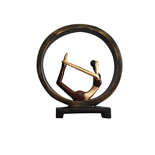ARTYRQ Esculturas Figura de Resina Abstracta de Yoga Lady ...
