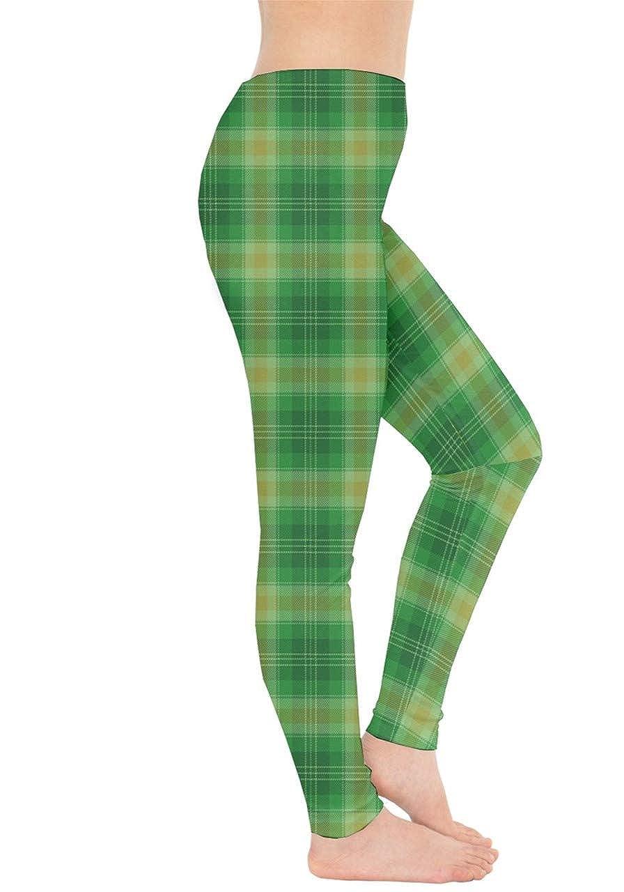 XS-5XL CowCow Womens Green Shamrock St Patricks Day Clover Leaves Leprechauns Leggings