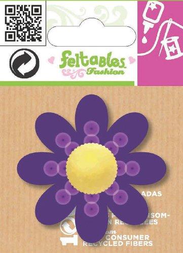 Feltables Micro Layered Embellishments 1/Pkg-Purple Pom Pom Daisy