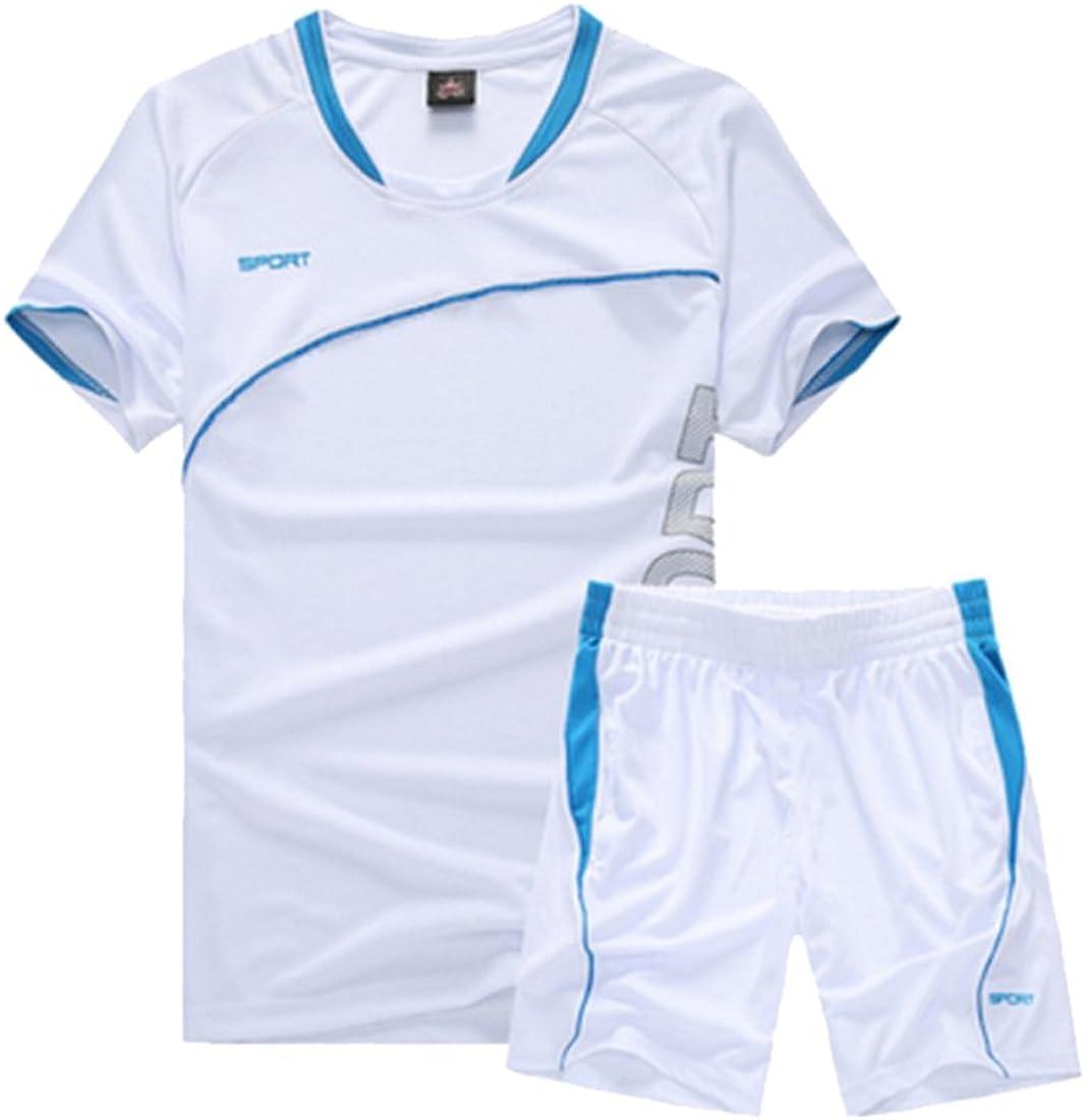 Inlefen Men Kids Sportswear Ropa de Manga Corta Fitness Baloncesto Tenis Fútbol Gym Clothing Sports Suits