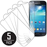 Samsung Galaxy S4 Mini Screen Protector Cover, MPERO Collection 5 Pack of Clear Screen Protectors for Samsung Galaxy S4 Mini