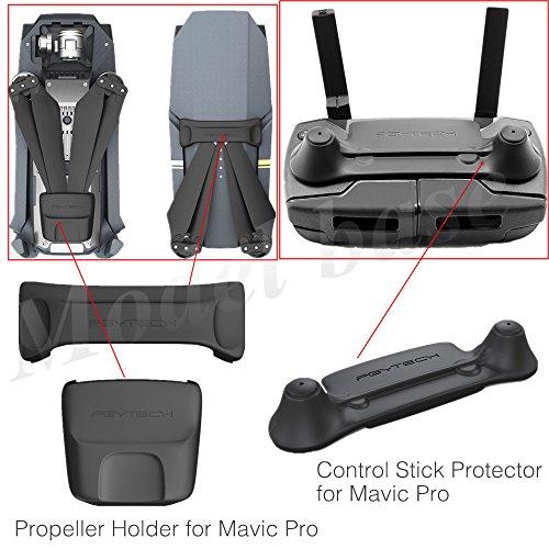 PGYTECH Mavic Pro Remote Control Stick Protector + Mavic Pro Propeller Holder Set Accessories ONLY for DJI Mavic Pro Drone (NOT Compatible Mavic 2 Series)