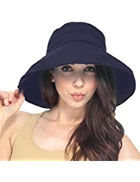 Simplicity® Summer Solid Cotton Bucket Hat with Big Fold-Up Brim