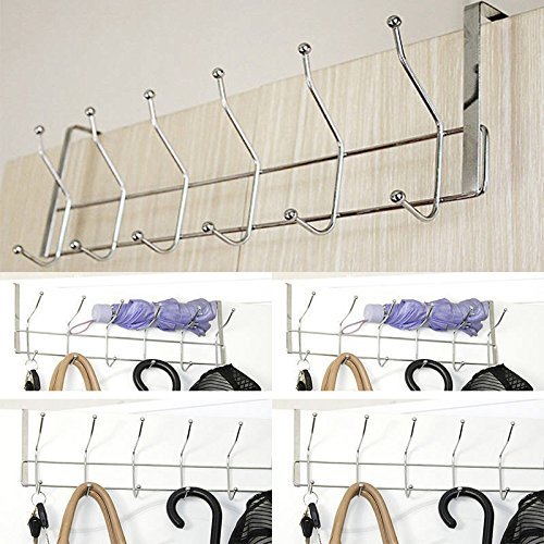 Aishine classico over the door 12 hook rack for coats for 12 hook over the door coat rack