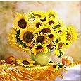 40X40cm Flower Arranging 5D DIY Diamond Painting Flowers Cross Stitch Diamond Embroidery Mosaic Diamonds Wall Stickers Home Decor Vase