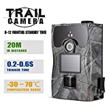 Lixada Trail Camera 1080P 12MP 2.0'' LCD Wildlife Scouting Hunting Game Camera 48pcs IR LEDs Night Vision up to 65ft/20m IP55 Waterproof 0.2s Super Fast Trigger Speed
