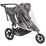"Sashas""Peekaboo Friendly"" Rain and Wind Cover for BOB Revolution FLEX Duallie & Strides Double Jogging Stroller"