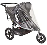 Sashas Peekaboo Friendly Rain and Wind Cover for BOB Revolution FLEX Duallie & Strides Double Jogging Stroller