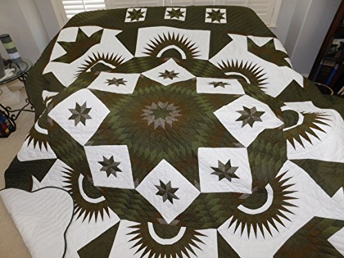 King Size, Amish Made, Hand made - Diamond Star Quilt
