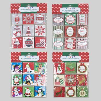 Set of 72 Self-Adhesive Christmas Gift Tag Stickers! 2.16