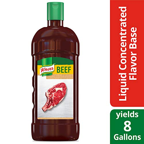 Knorr Professional Ultimate Beef Liquid Concentrated Stock Base Gluten Free, No Artificial Flavors, Colors or Preservatives, No added MSG, 32 oz, Pack of 4