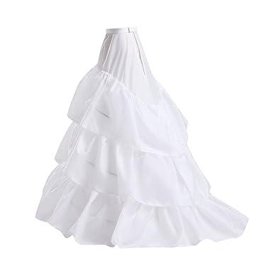 VENI MASEE Damen 3 Reifen Hochzeitssuite Nachfolgende Petticoat Ball ...