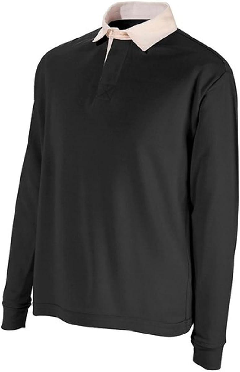 Polo da rugby a maniche lunghe da uomo maglietta sportiva in cotone di alta qualit/à