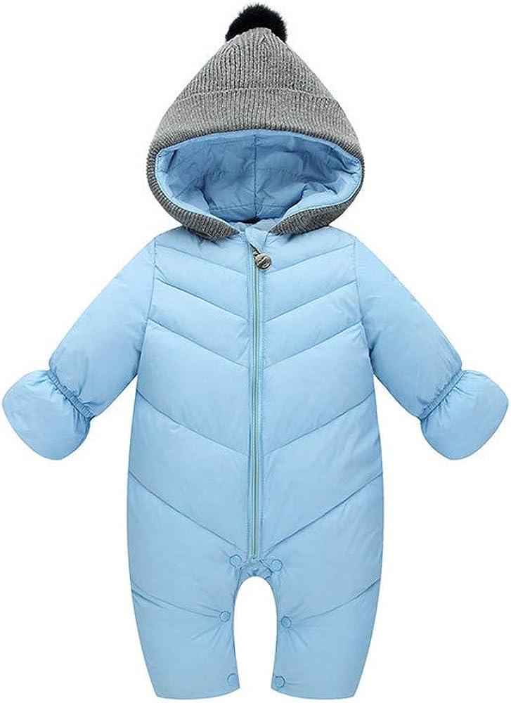 Kobay Baby Jungen M/ädchen Kinder Strampler Kinder Winter Dicke Winter Warme Overall Oberbekleidung