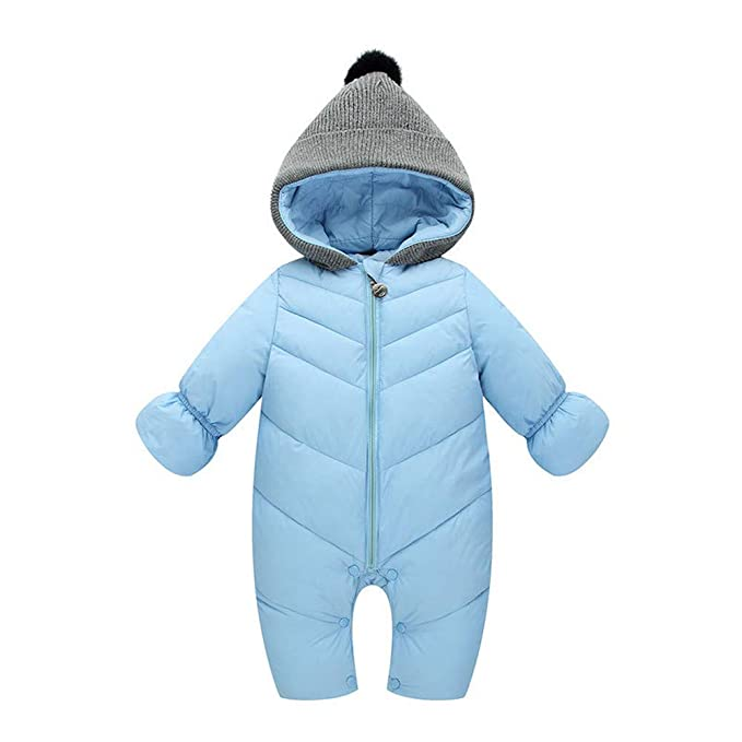 584aeb1656152 Newborn Winter Waterproof Rompers Vovotrade Infant Baby Girl Boy Long  Sleeve Thick Hooded Jumpsuit Winter Patchwork