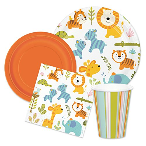 safari baby shower plates - 6