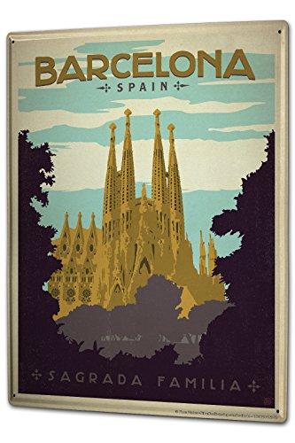 Tin Sign XXL City Spain Barcelona Sagrada Familia by LEOTIE