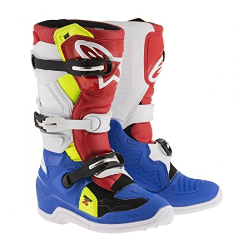 Alpinestars Tech 7S Youth Motocross Boots - Blue/White - Youth 3 ()