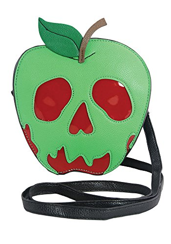 Red Apple Purse - Sleepyville Critters Poisoned Apple Vinyl Crossbody Bag (Green)