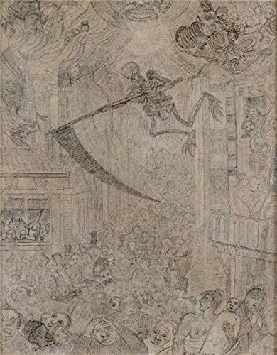 (Oil Painting 'James Ensor - Triumph Of The Death,1896', 12 x 15 inch / 30 x 39 cm , on High Definition HD canvas prints is for Gifts And Foyer,)