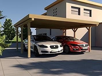 carport toit plat silverstone ii 600 x 500 cm kit toit plat carport
