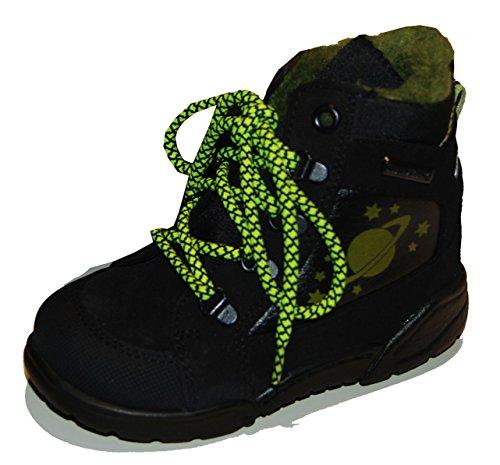 Däumling Kinderschuhe, hohe Schuhe, Winterschuhe, Warmfutter, Lederschuhe marine (Turino ozean)