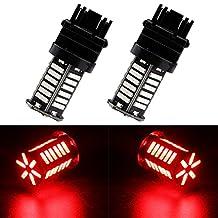 EverBrightt 2-Pack Red 3157 7014 36SMD LED Replacement Bulb For Brake Light Reverse Turn Signal Lamp Cornering Lamp DC 12V