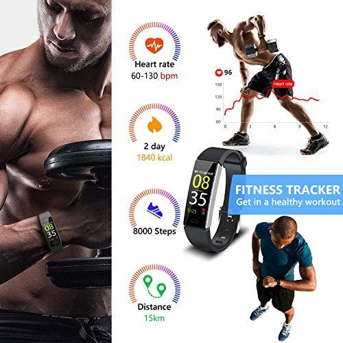 Mgaolo Fitness Tracker,2020 Version IP68 Waterproof Activity Tracker with Blood Pressure Heart Rate Sleep Monitor,10 Sport Modes Health Fit Smart Watch with Pedometer for Men Women 4