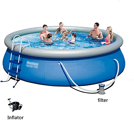 Inflatable Swimming Pool Children S Inflatable Pool Adult Large Paddling Pool Home Thickened Above Ground Swimming Pool Color Blue Size 457 84cm Amazon Ca Home Kitchen