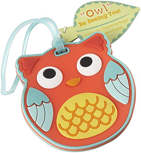 90pcs Be Seeing You Owl Luggage Tag Baby Shower Gifts & Wedding Favors by cute rabbit