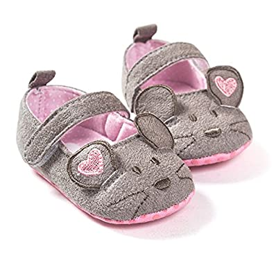 FemmeStopper Baby Shoes 7-12 Months(13cm) Cute Baby Girls Shoes First  Walkers Cotton Grey Mouse with Pattern Shading Soft Sole Baby Toddler  Prewalkers Shoe 99dc11db4