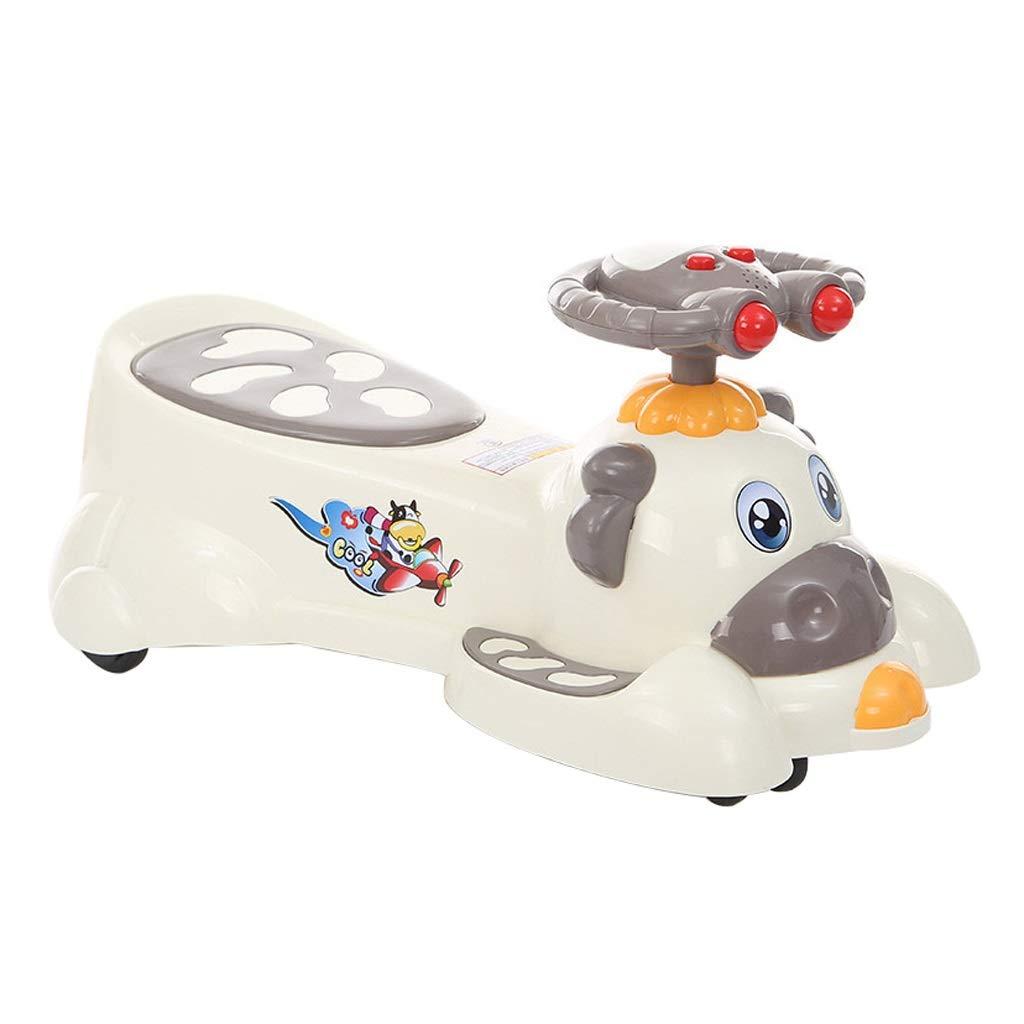 Twist car Auto Serpeggiante Bambini Mute Wheel Yo Car Baby Car Car 1-3-6 Car with Music Passeggino Swing Toy Car FANJIANI (colore   D)