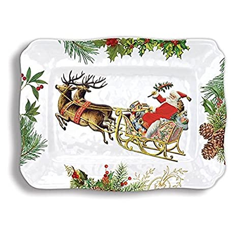 Melamine Christmas Platters.Michel Design Works Swpl274 Melamine Serving Platter Christmas Joy