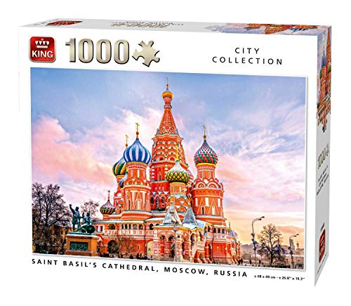 (KING 55848 Saint Basil's Cathedral Moscow Jigsaw Puzzle 1000-Piece, Full Colour, 68x49 cm)