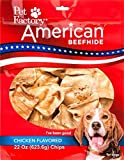 Pet Factory 28372 American Beefhide Chicken Flavored Chips for Dogs, 22oz