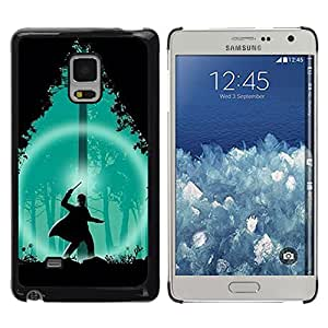 Shell-Star Arte & diseño plástico duro Fundas Cover Cubre Hard Case Cover para Samsung Galaxy Mega 5.8 / i9150 / i9152 ( Green Wizard Forest Night Silhouette )