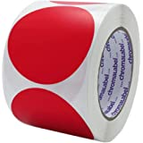 Fluorescent Orange Roll Products 119-0003 Adhesive Dot Label 3//4 Diameter Roll of 1000 For Inventory and Marking