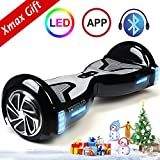 TOMOLOO Hoverboard with LED Light Two-wheel Self Balancing Scooter with UL2272 Certified, 6.5″ Wheel Electric Scooter for Kids and Adult