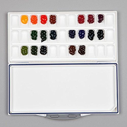 フュージョンパレット 33 colors (water color fusion palette) [ 水彩パレット 専門家用 プロ用 スケッチ旅行 アーティスト用 画材 絵画 水彩画 透明水彩絵具 透明 水彩絵の具 えのぐ パレット ]
