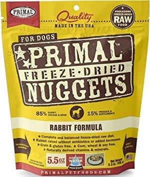 Primal Freeze Dried Dog Food - Rabbit Formula - 5.5 oz.