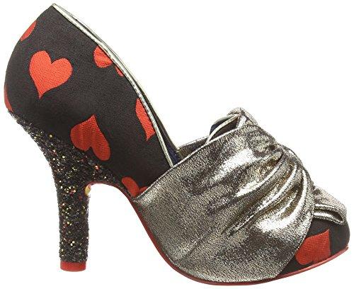Femme Red Irregular Rouge Ooh Choice Escarpins Gold C Bout la la Fermé w10wzqCf