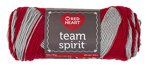 Red Heart Team Spirit Yarn, Red/Grey ()