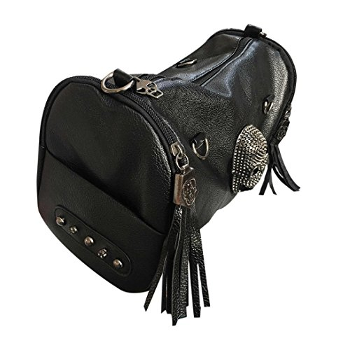 Matched Rivet Crossbody Women Handbag Bag Shoulder Black All Swiftswan Skull Tassels 5aS4q