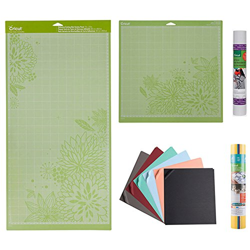 Material Sampler Set - Cricut Iron-on, Cricut Vinyl, Cricut Cardstock, and two different cutting mats by Cricut laboratories