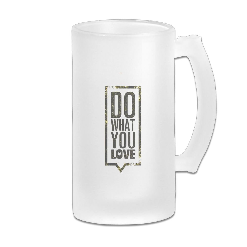 WSXEDC Do What You Love Beer Glass Mug Personalized Mug Thick Glass Mug Great For Pub Bars Restaurants 16 Ounce